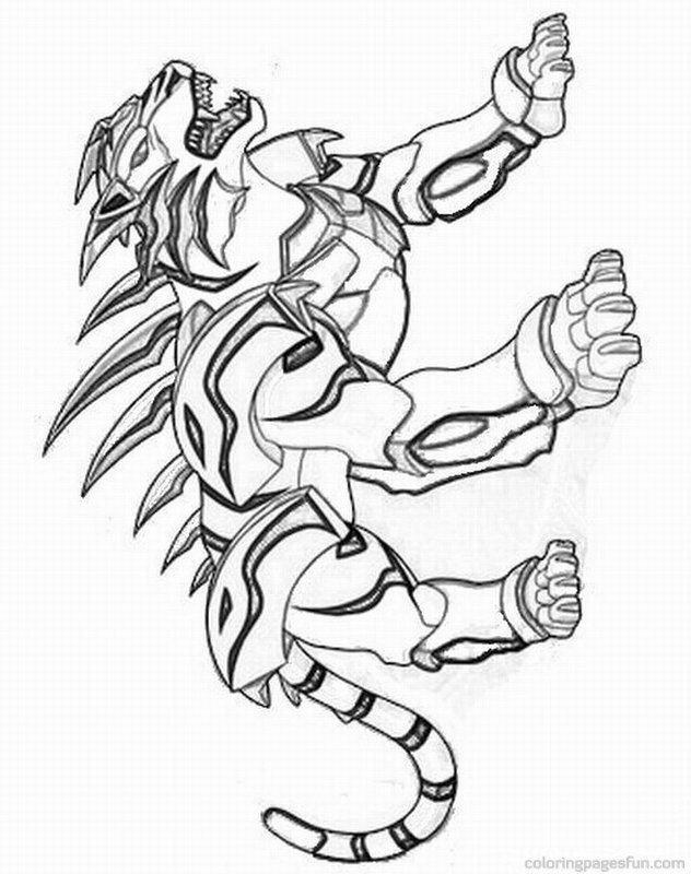 Bakugan Free Coloring Pages - AZ Coloring Pages