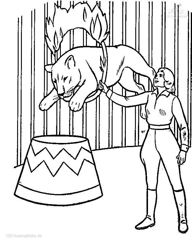 zirkus Colouring Pages