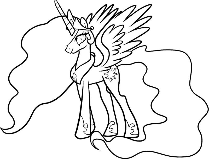 My Little Pony Coloring Pages : Twilight Sparkle My Little Pony