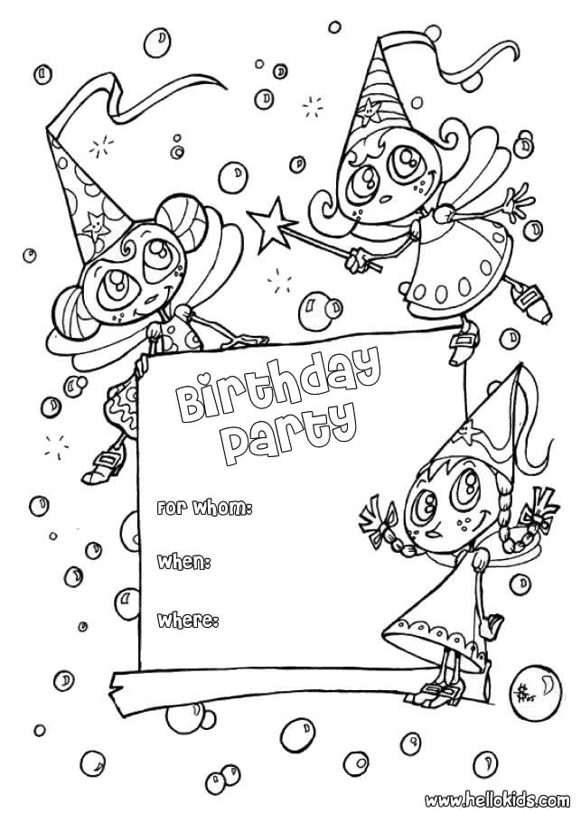 BIRTHDAY CARDS Coloring Pages : 5 Free Online Coloring Books - AZ ...