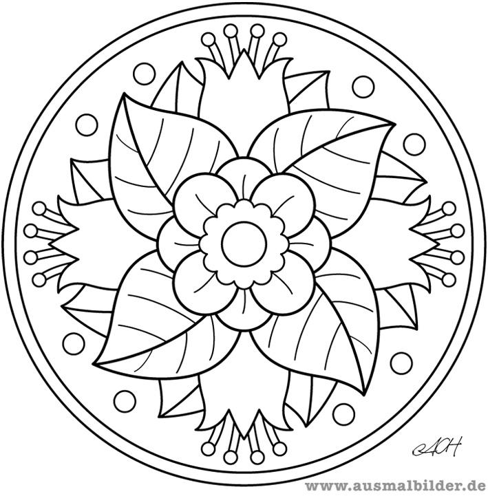 Blumen Mandalas Az Ausmalbilder