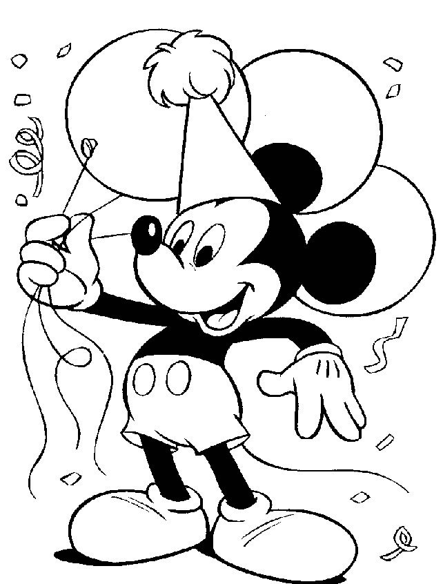 Mickey Mouse Coloring Pages | Coloring Pages To Print