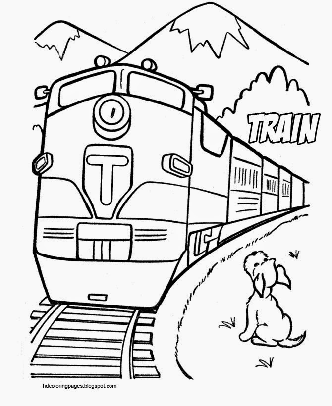 Train Coloring pages | Lokomotive and Monorail