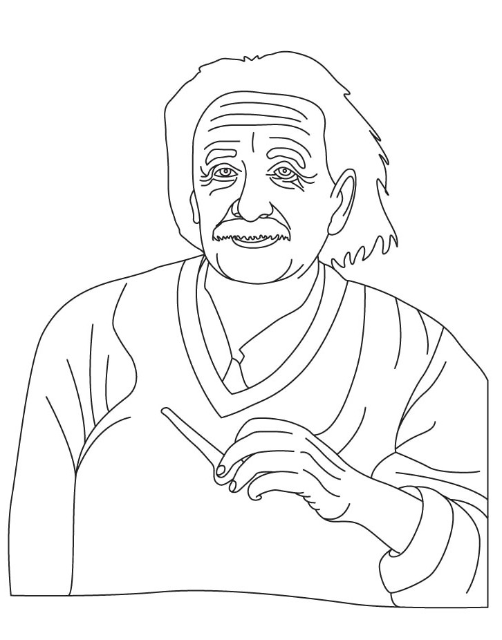 Albert Einstein Who Care Coloring Image - Figure Coloring Pages