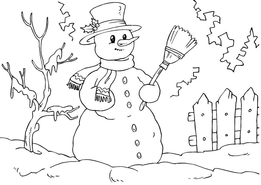 Kids Coloring Christmas Coloring Snowman Coloring Pages Snowman