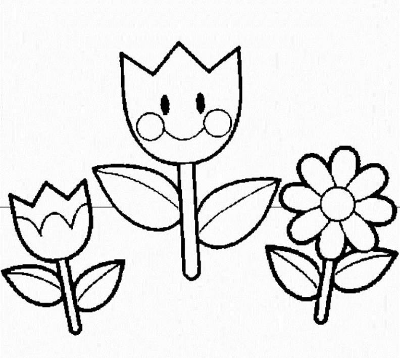 Kindergarten Coloring Pages : Spring Coloring Pages For