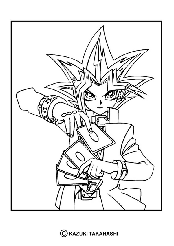 YU-GI-OH coloring pages - Yu-Gi-Oh 6