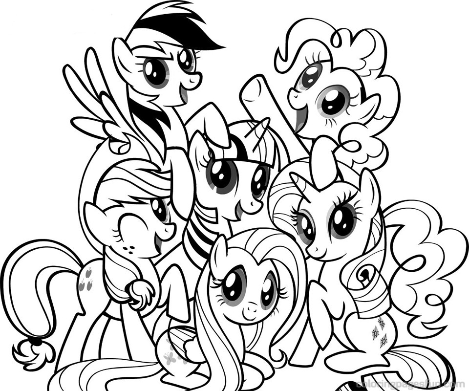 my little pony coloring pages printable | The Coloring Pages