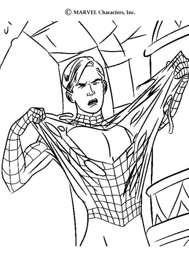 Раскраски человек паук 3