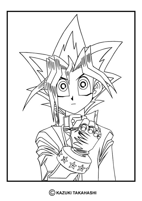 YU-GI-OH coloring pages : 50 free online coloring books