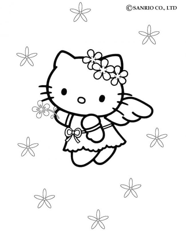 HELLO KITTY Ausmalbilder - HELLO KITTY PORTRAIT online ausmalen