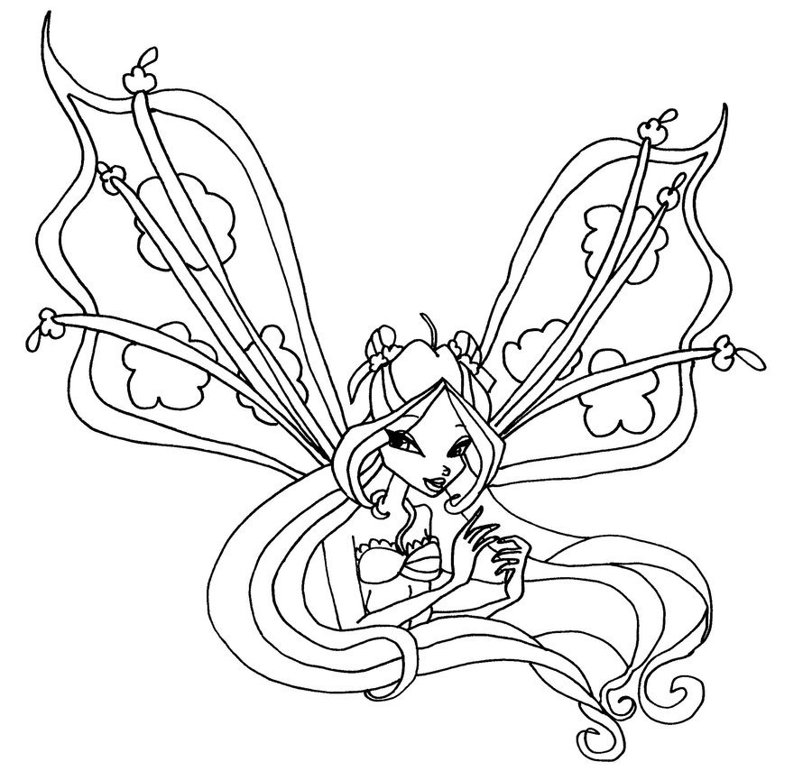 Believix roxy Colouring Pages (page 3)