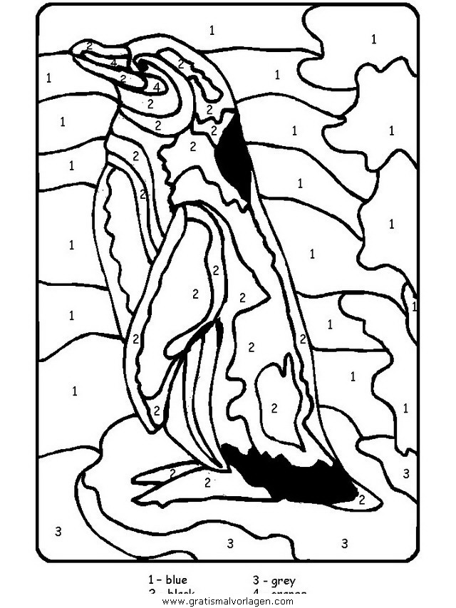 PINGUIN comics Colouring Pages