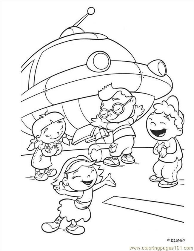 Little einstein Colouring Pages (page 2)