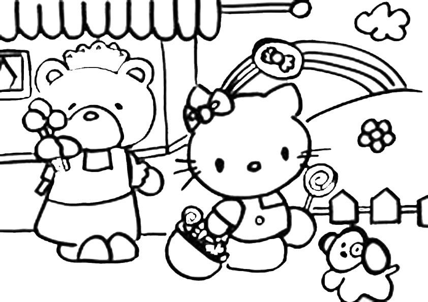 Hello Kitty Kopf Malvorlage Az Ausmalbilder
