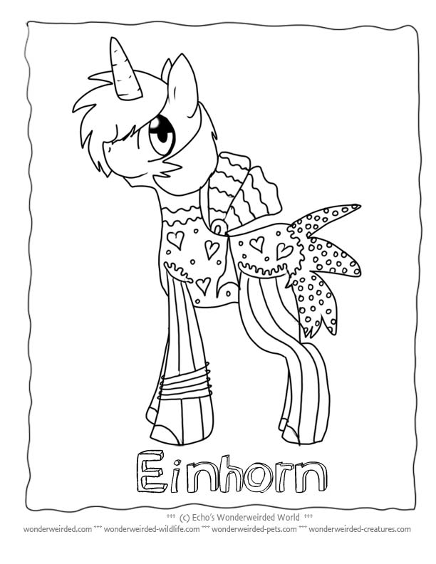 eieinhorn Colouring Pages (page 2)