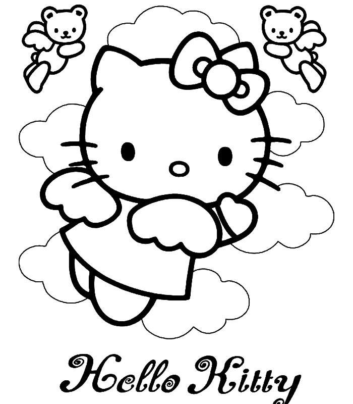 Ausmalbilder Hello Kitty | HQ Ausmalbilder für Kinder