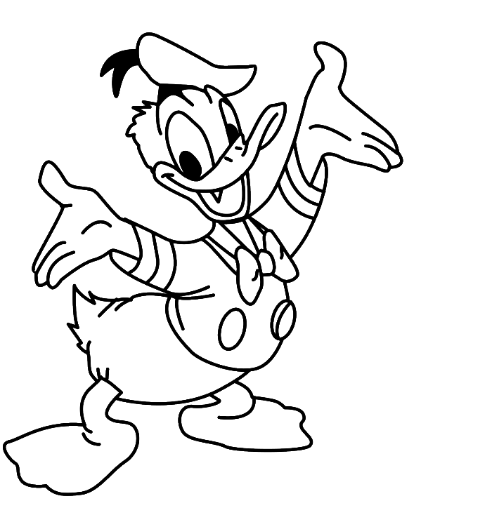 Donald Duck Coloring Pages 115 97420 High Definition Wallpapers Az