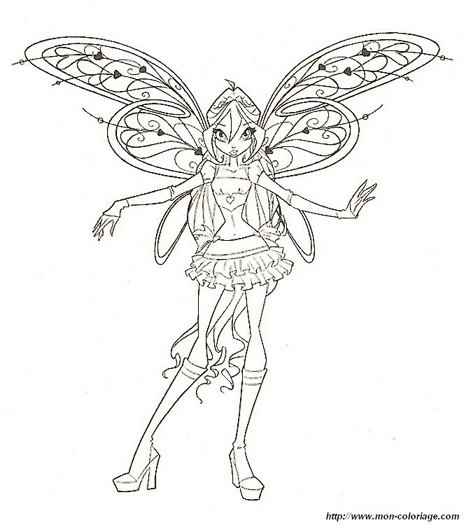winx fairy dust Colouring Pages (page 3)