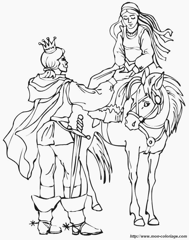 Malvorlagen Prinzessin Und Prinz Bild Prinzessin Auf Pferd Und