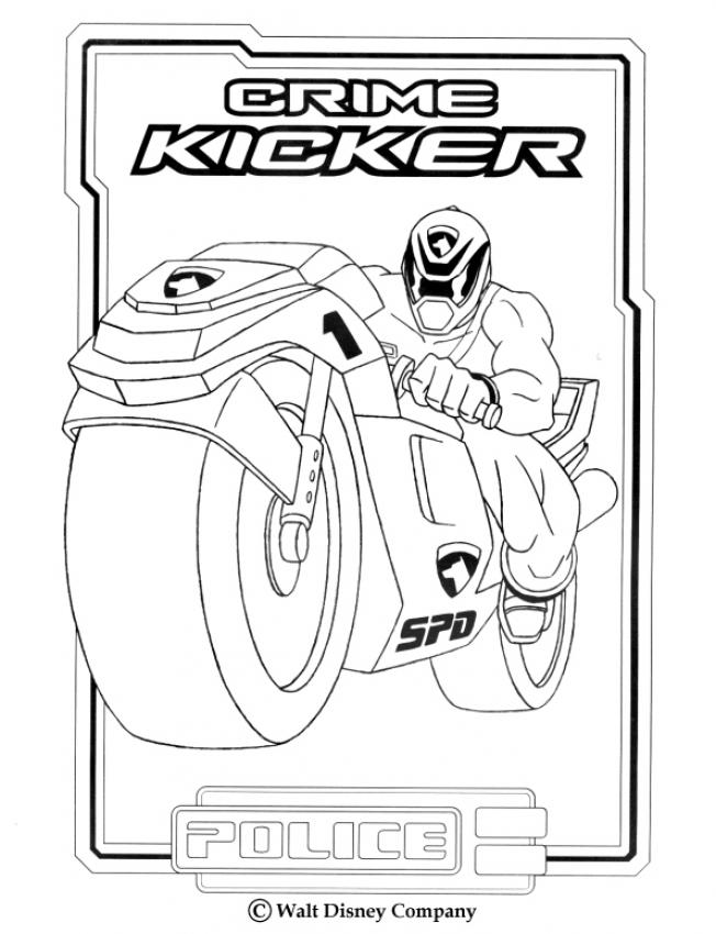 POWER RANGERS zum Ausmalen - Police Crime Kicker
