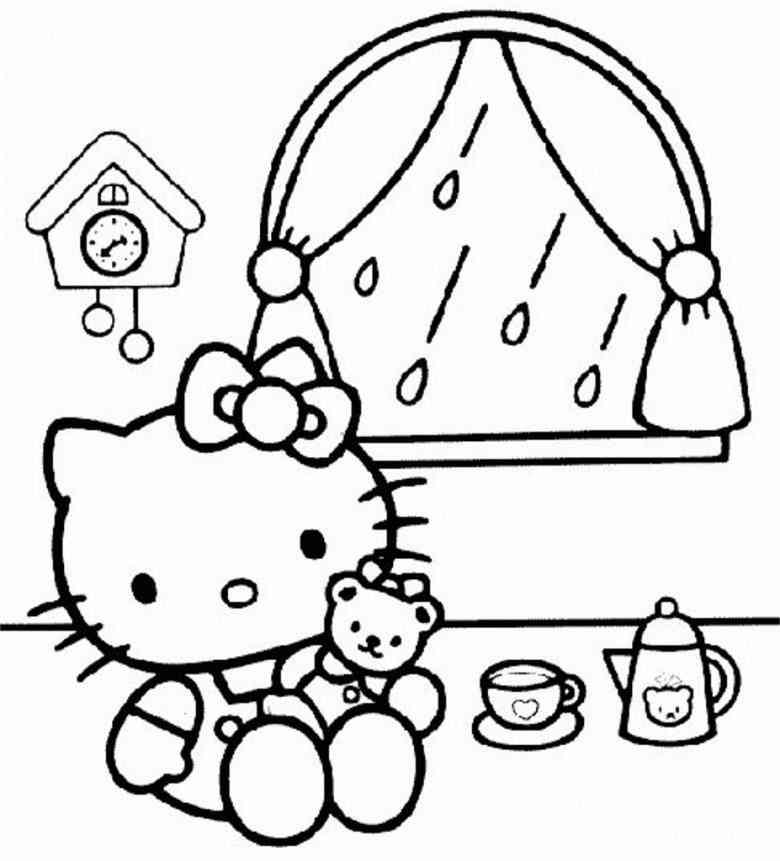 Hello Kitty Zum Ausmalen - AZ Ausmalbilder