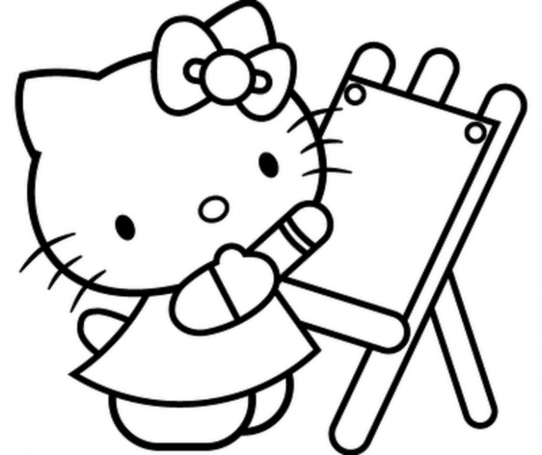 Bilder Hello Kitty - AZ Ausmalbilder