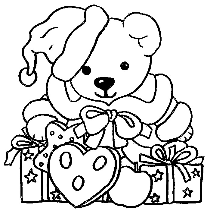h a teddy Colouring Pages