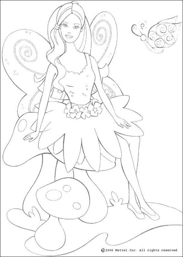 BARBIE DOLL coloring pages - Barbie mermaid