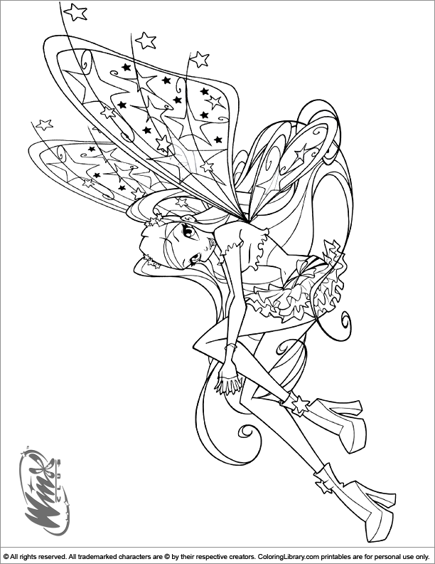 Winx Club coloring picture