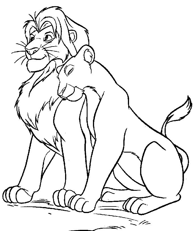 könig der löwen ausmalbild