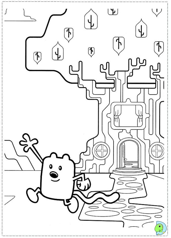 Wow Wow Wubbzy Coloring page- DinoKids.