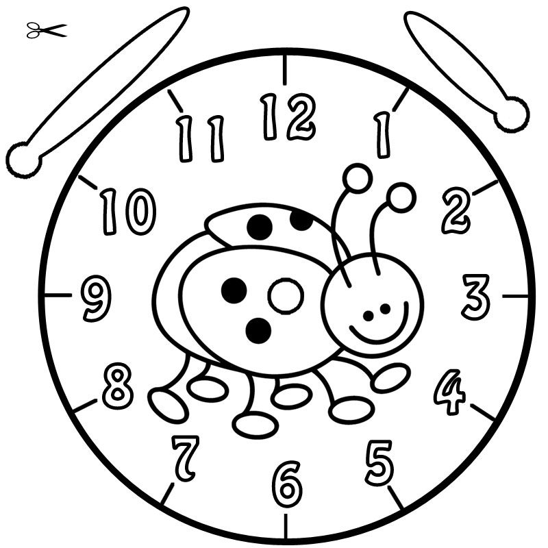 Uhr Basteln Grundschule - AZ Ausmalbilder