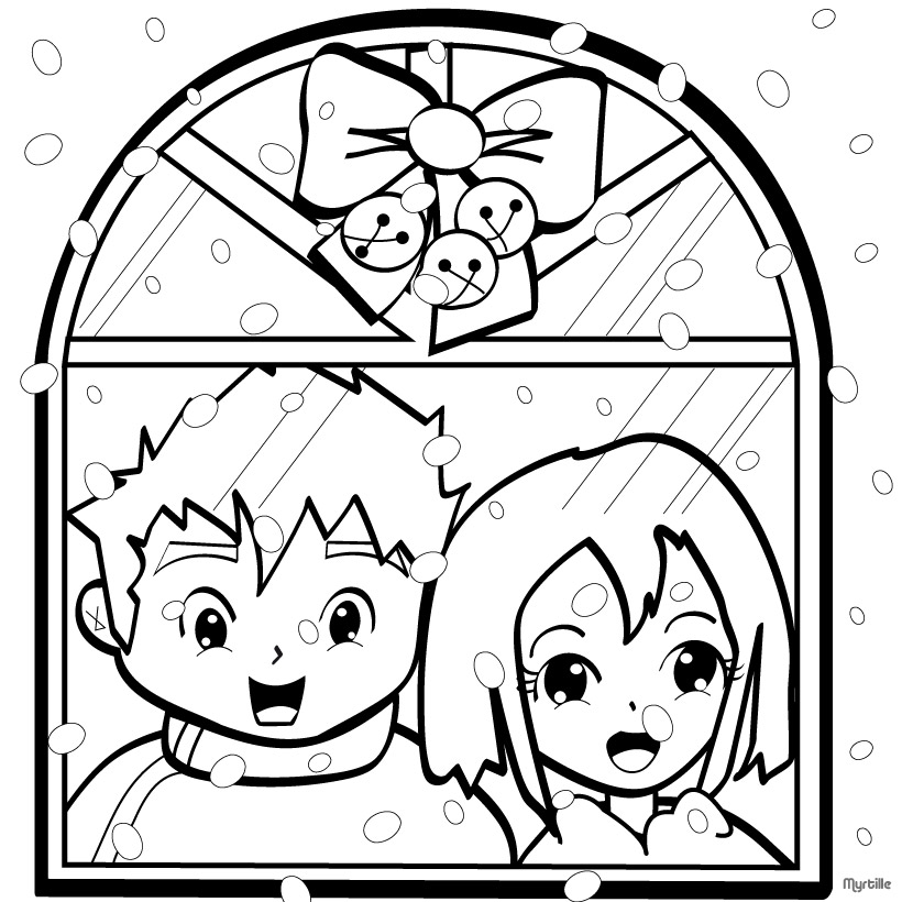 CHRISTMAS VILLAGE coloring pages - Christmas house