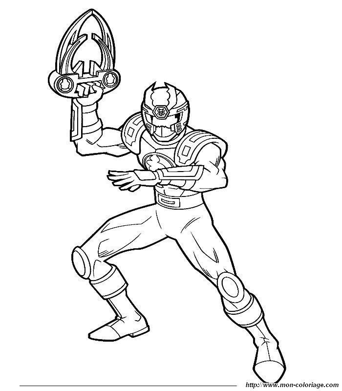 Ausmalbild Power Ranger - AZ Ausmalbilder