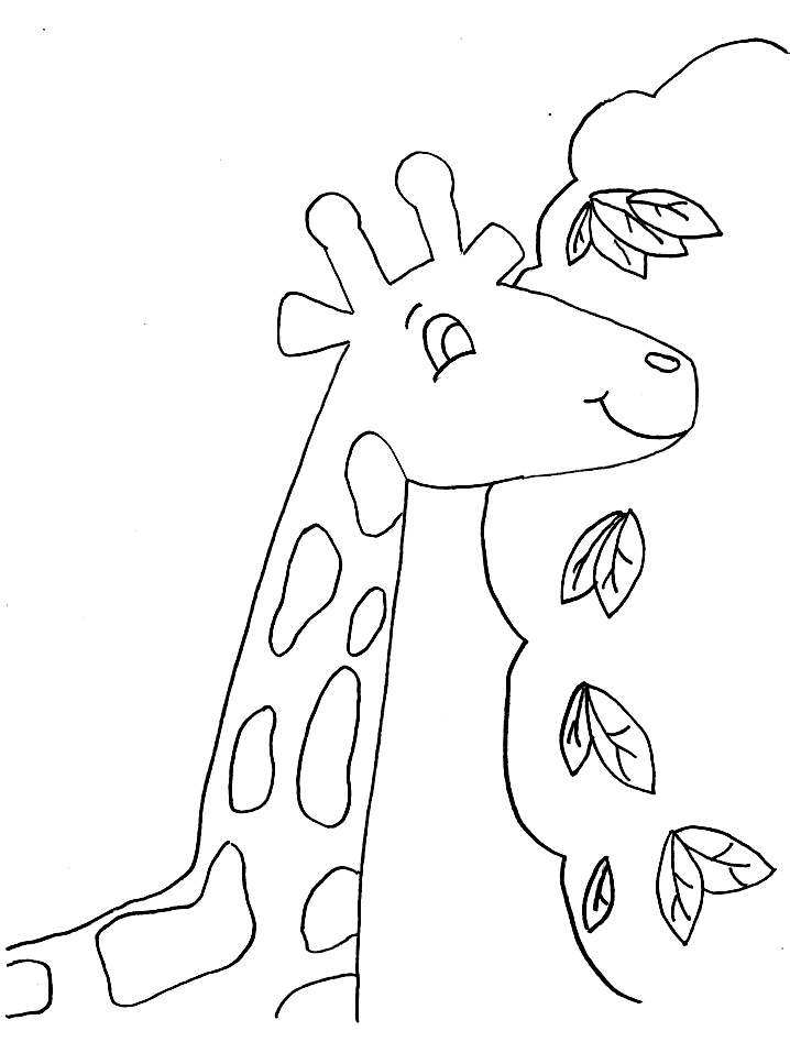 Giraffe Colouring Pages- PC Based Colouring Software, thousands of