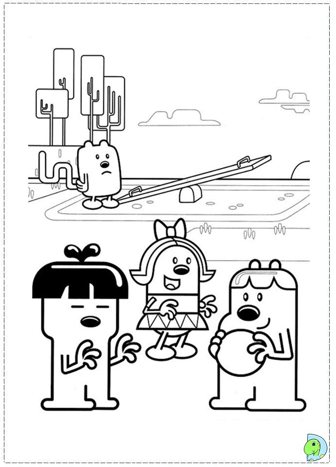 Wow Wow Wubbzy Coloring page- DinoKids.org