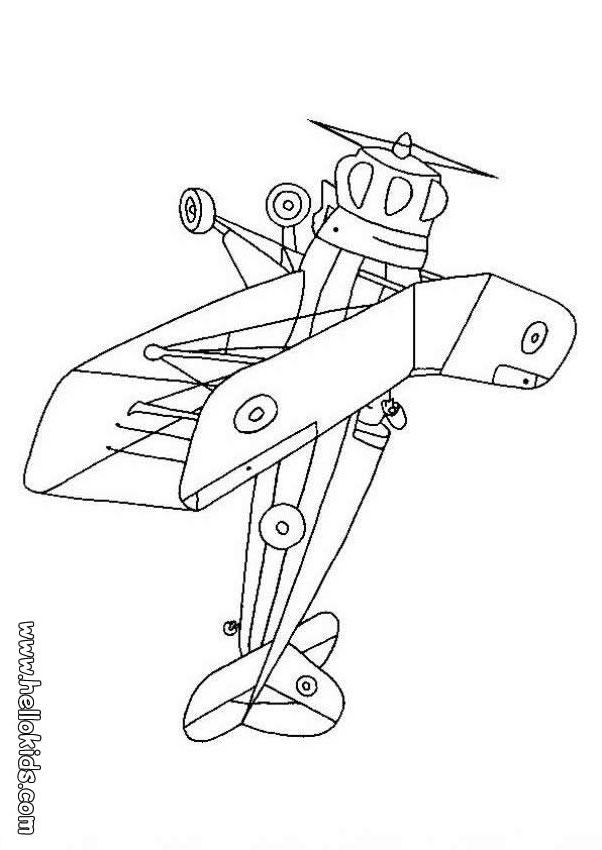 Doppeldecker Flugzeuge Az Ausmalbilder