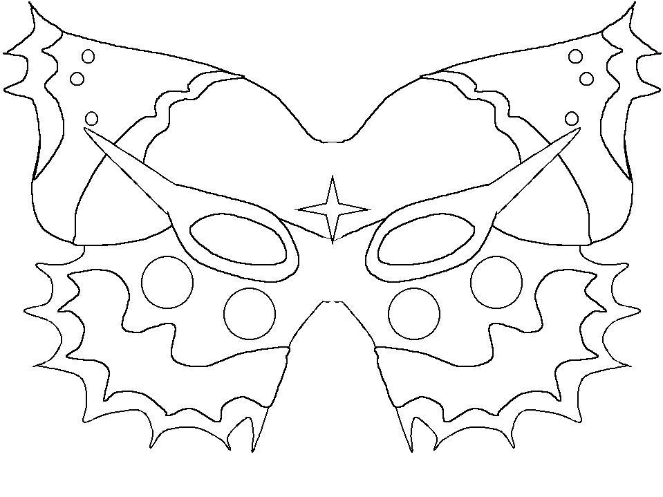 Karneval maske basteln vorlage wohn design - Masque papillon carnaval ...
