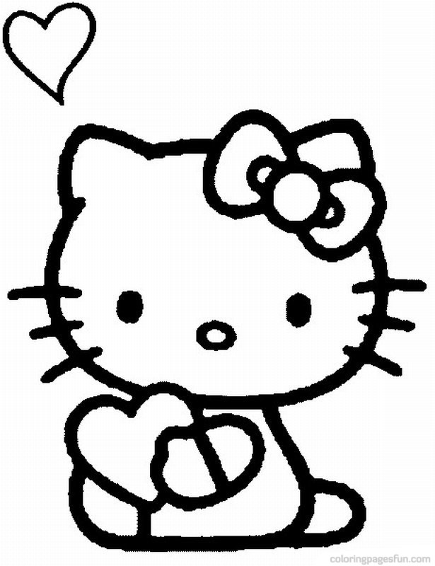 Hello Kitty Coloring Pages 43 Background HD | wallpaperhd77.