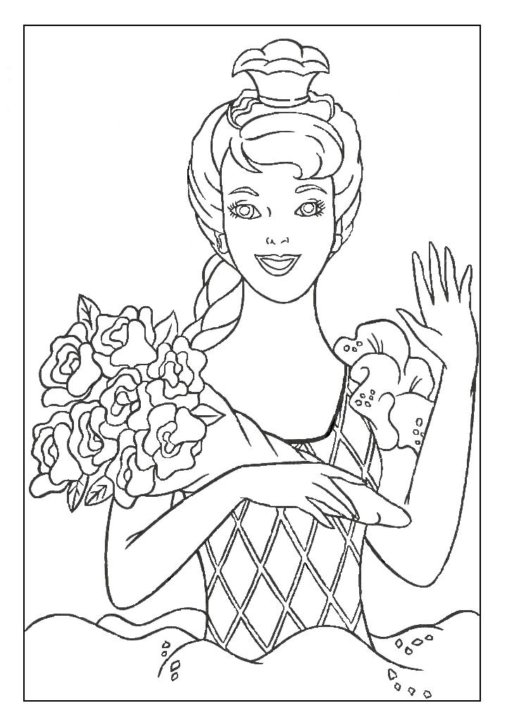 Barbie AS Rapunzel Colouring Pages (page 2)
