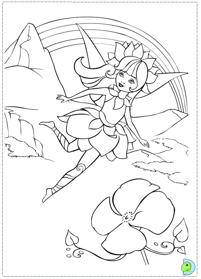 Barbie as a fairy Colouring Pages (page 3)