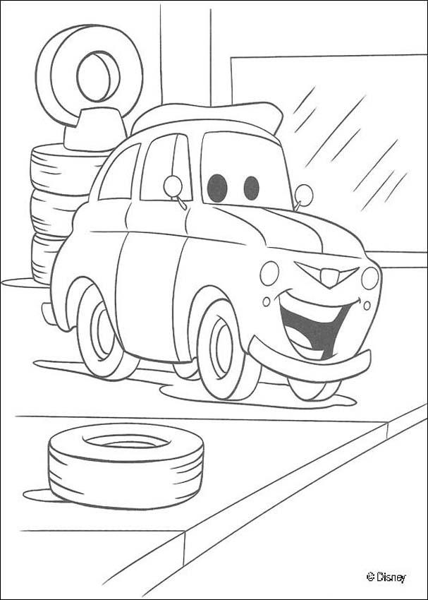 Cars coloring pages - Lightning Mc Queen