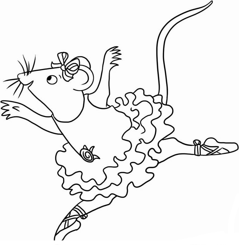 Angelina Ballerina Coloring Pages Free Printable Coloring Pages