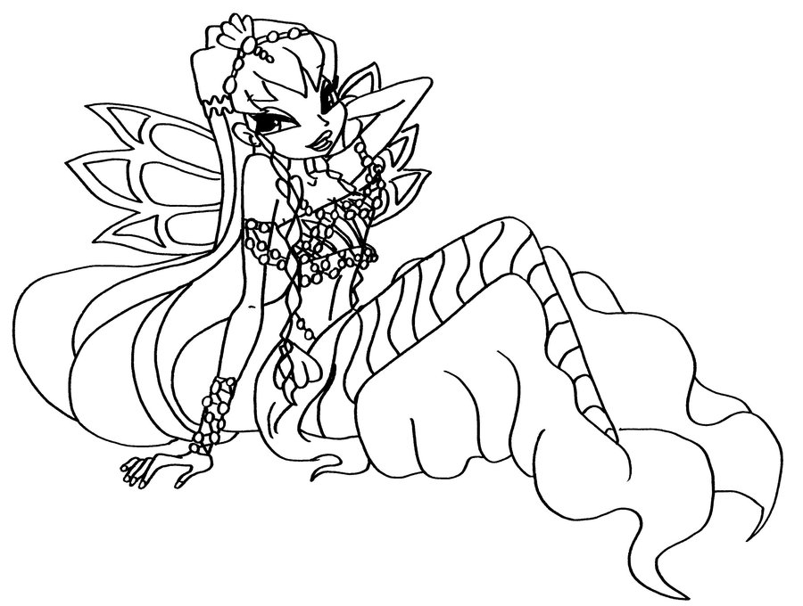 roxy wings believix Colouring Pages
