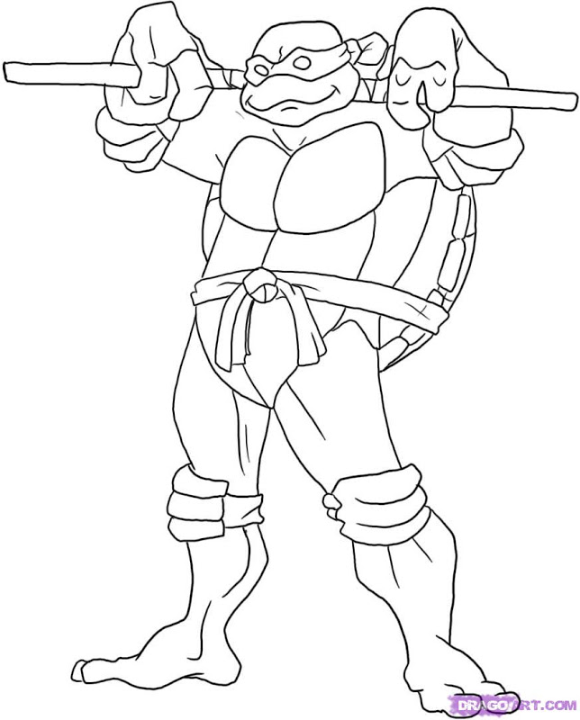 Coloring Pages Of Ninja Turtles |