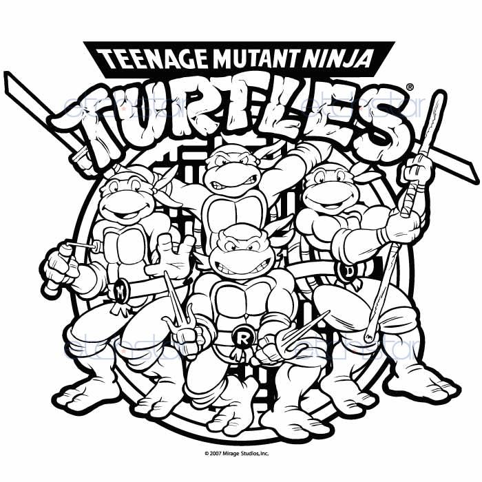 Teenage Mutant Ninja Turtles Retro Group with Logo v.1 custom iPod