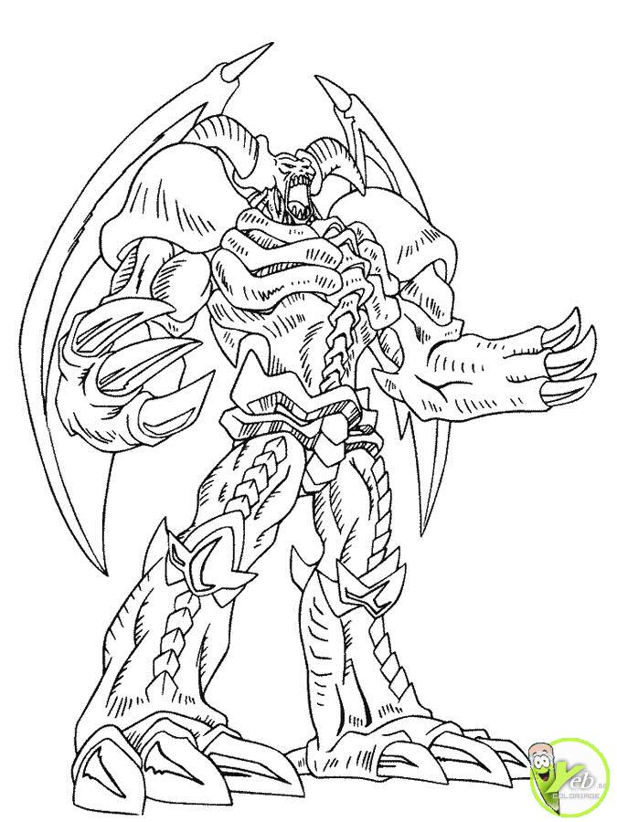 yu gi oh exodia Colouring Pages