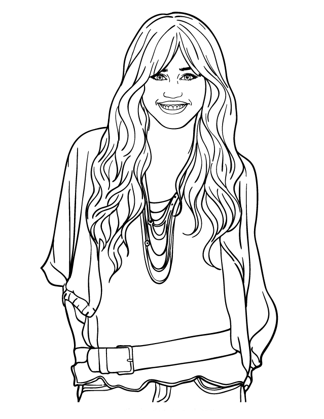Free Coloring Pages Hannah Montana - AZ Coloring Pages