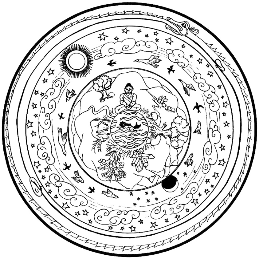 Life Nature Mandala Coloring Pages - Mandala Coloring Pages - AZ ...